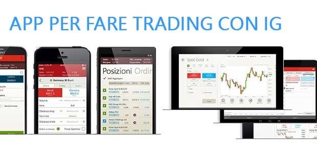 APP per fare trading con IG Markets