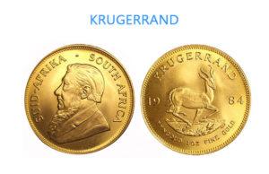 le 2 facce della moneta d'oro Krugerrand