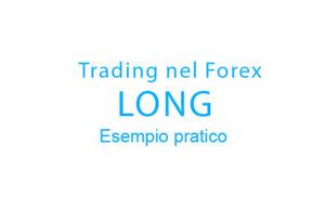 Esempio pratico di trading nel Forex con posizione Long